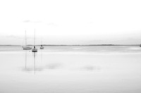 Dawn on Key Largo (black & white)